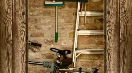 How do I store my bike in my shed